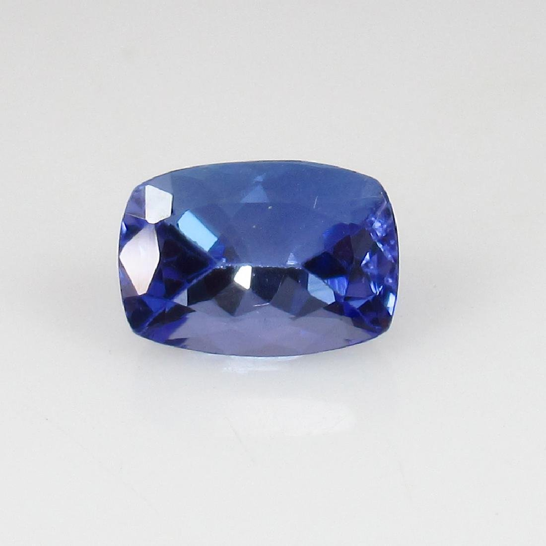 IGI Certified 1.07 Ct Natural Tanzanite Cushion cut