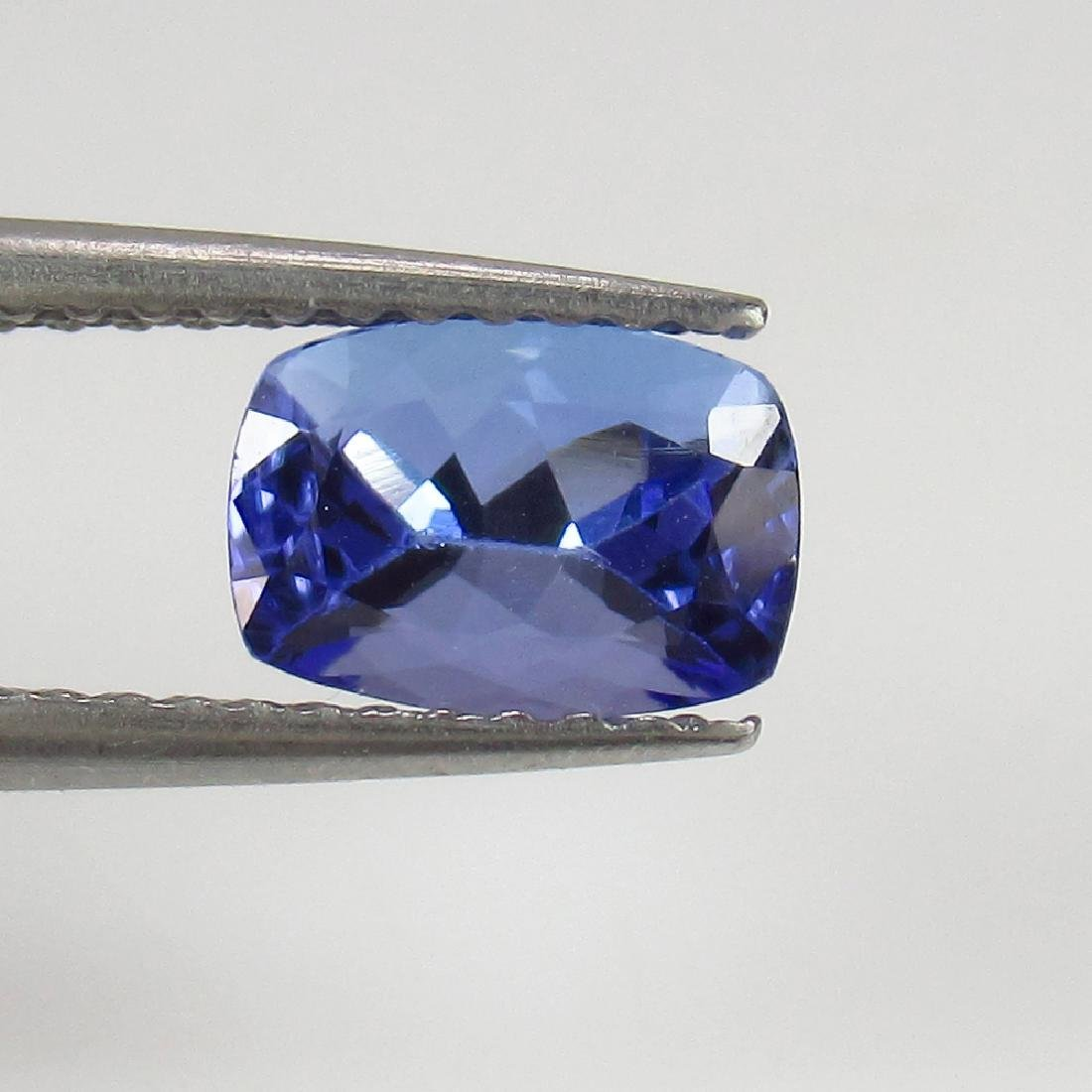 IGI Certified 1.07 Ct Natural Tanzanite Cushion cut - 2