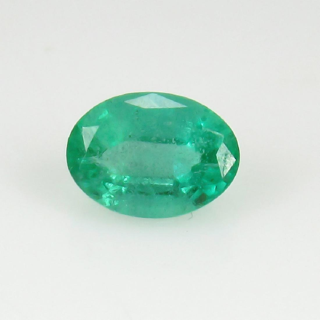 0.94 Ct IGI Certified Genuine Zambian Emerald Nice Oval