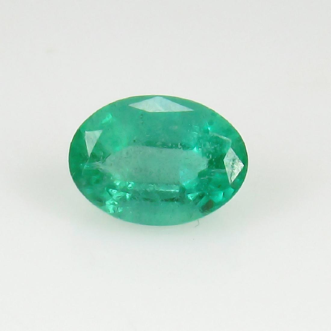0.94 Ct IGI Certified Genuine Zambian Emerald Nice Oval