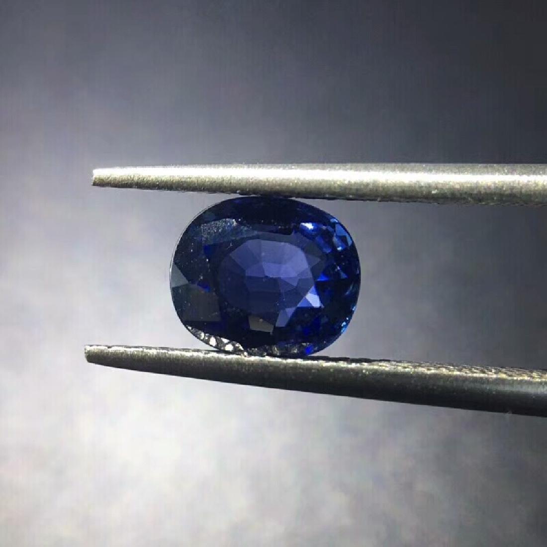 1.68 ct Sapphire 7.5*6.4*3.6 mm Oval Cut