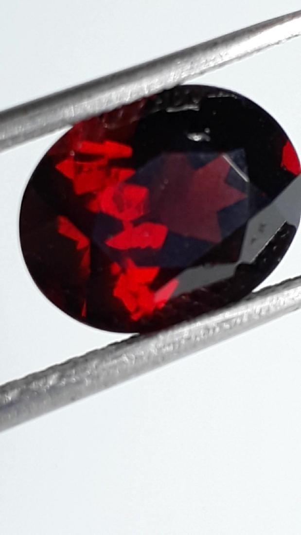 4.2ct Untreated Vivid Madagascar Red Garnet | VVS - 3