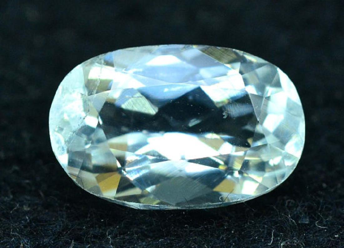 2.65 cts oval cut Untreated Aquamarine Gemstone from
