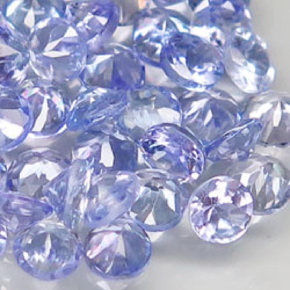 4.3ct 100%Natural Blue Purple Tanzanite Diamond Cut - 2