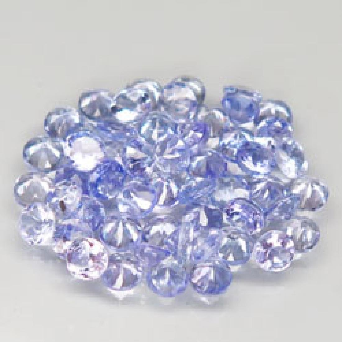 4.3ct 100%Natural Blue Purple Tanzanite Diamond Cut - 3
