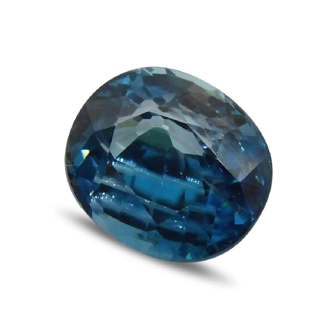 4.39 ct Oval Blue Zircon