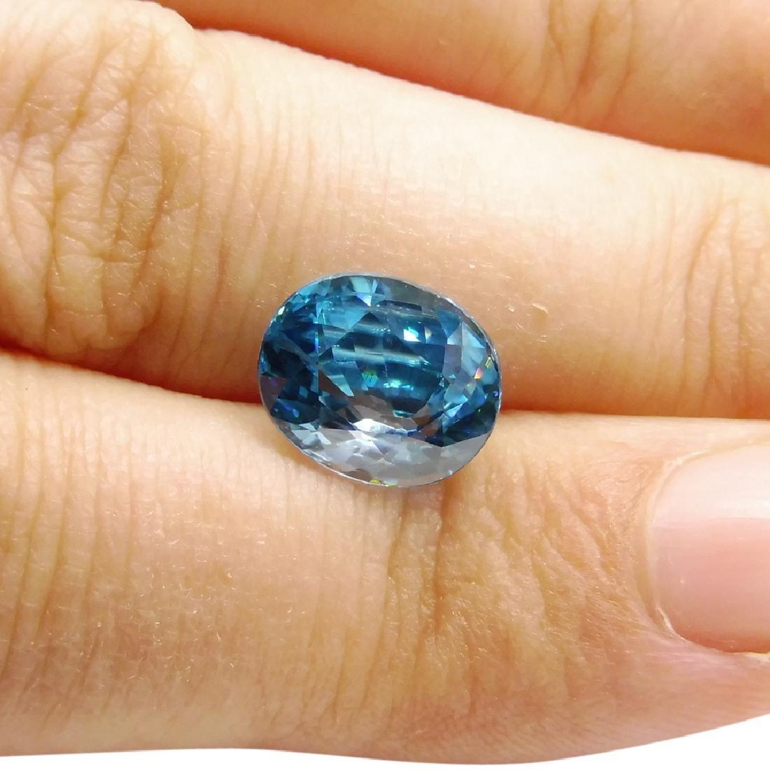 4.39 ct Oval Blue Zircon - 2