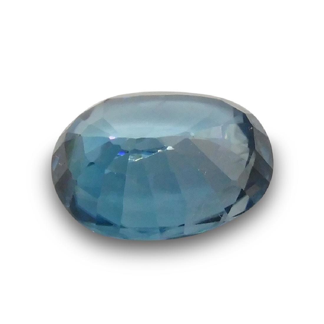 4.39 ct Oval Blue Zircon - 3