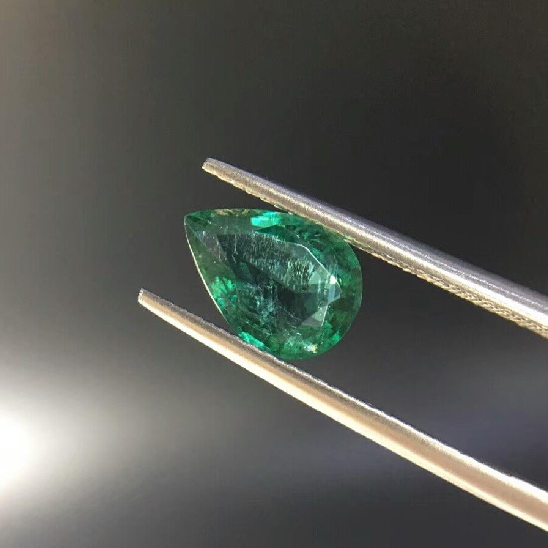 1.57 ct Emerald 6.8*9.6*4.0 mm Pear Cut