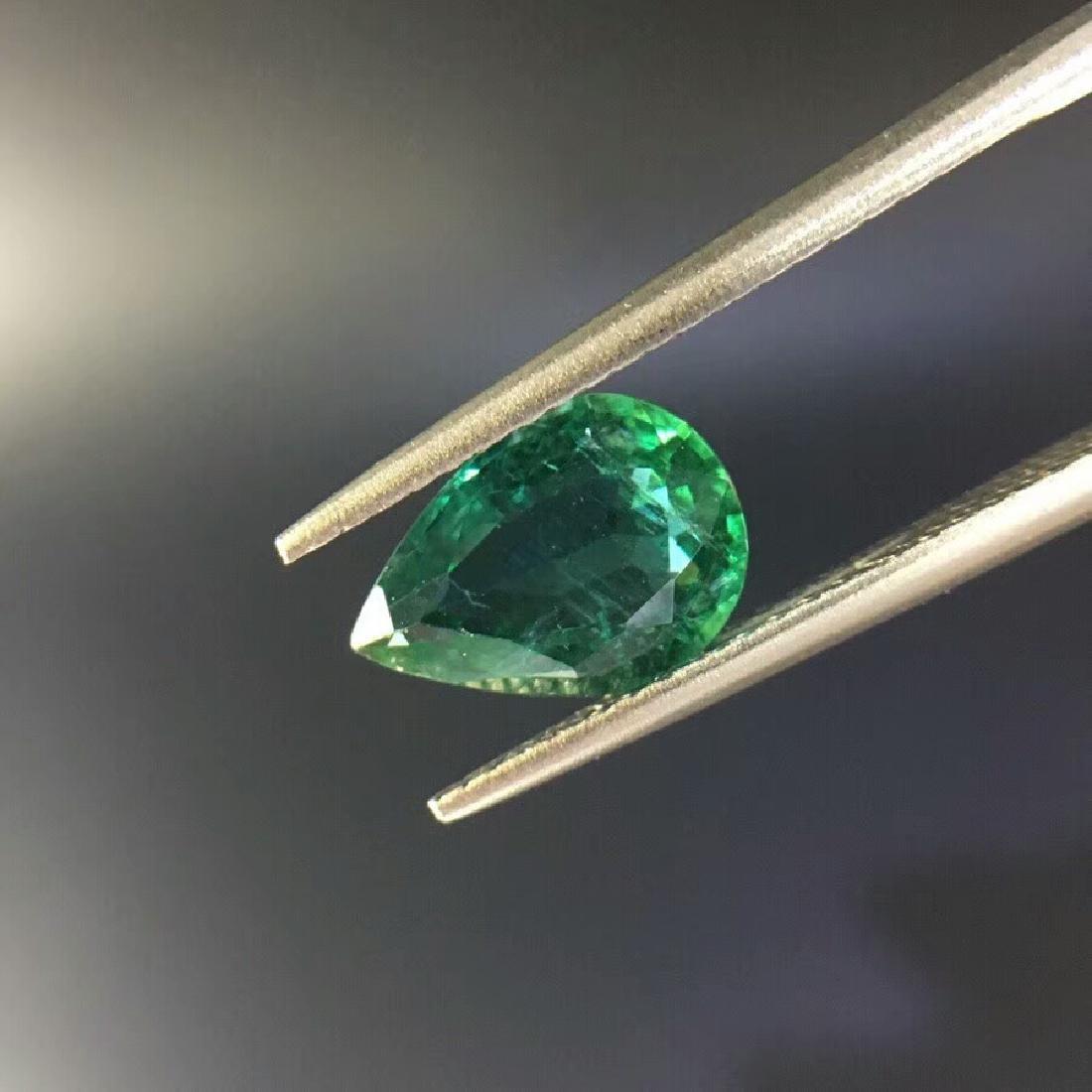 1.57 ct Emerald 6.8*9.6*4.0 mm Pear Cut - 2