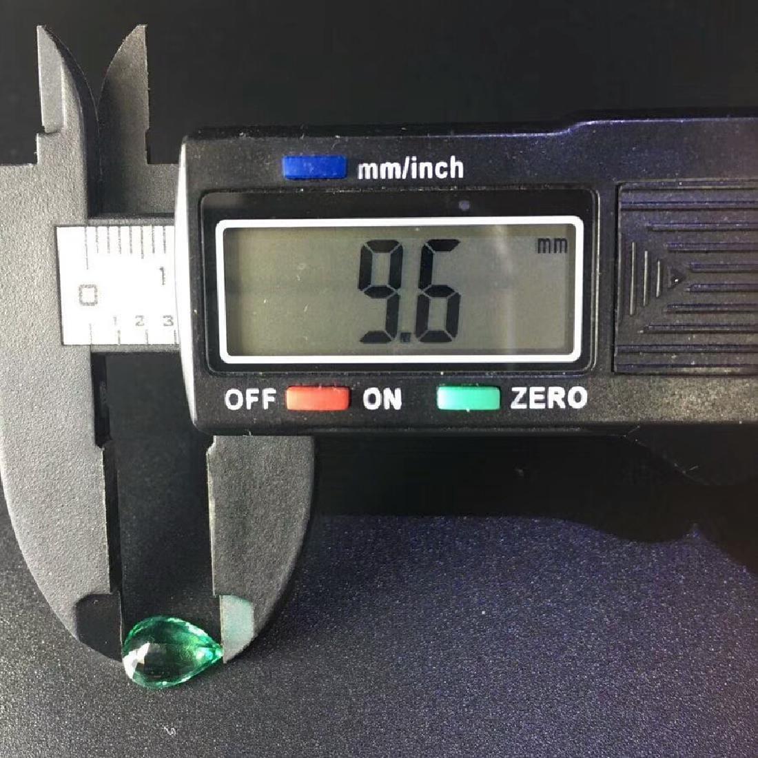 1.57 ct Emerald 6.8*9.6*4.0 mm Pear Cut - 5