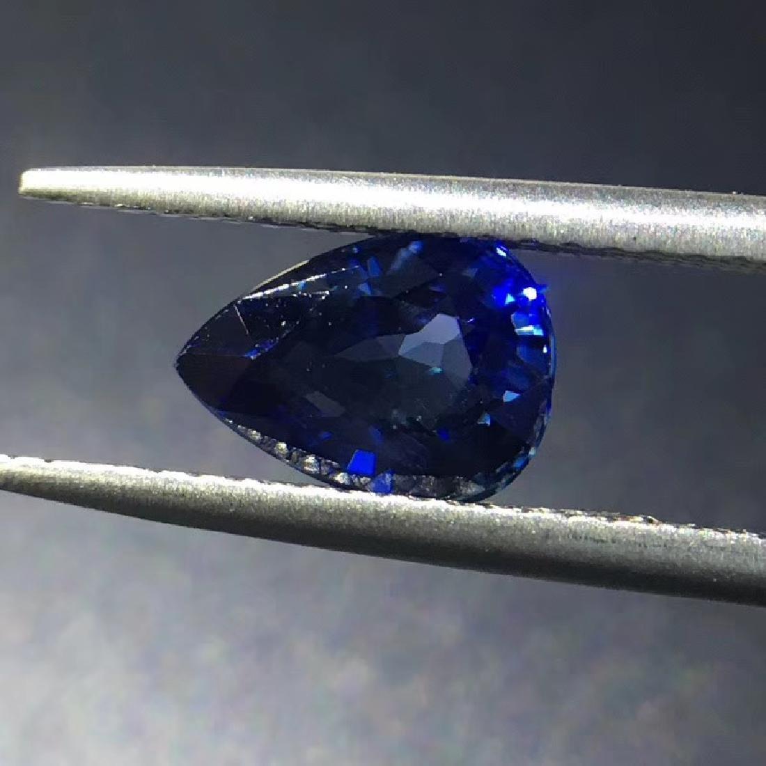 1.54 ct Sapphire 5.8*7.8*4.0 mm Pear Cut