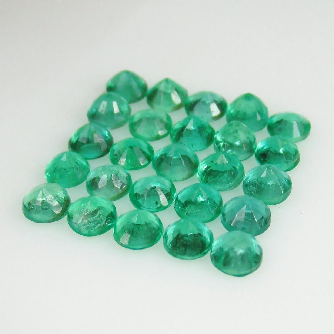 4.04 Ctw Natural 25 Loose Calibrate Emerald 3.5 mm