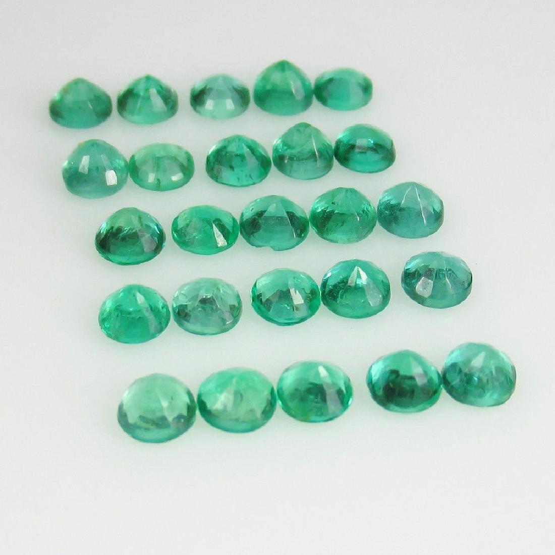 4.04 Ctw Natural 25 Loose Calibrate Emerald 3.5 mm - 2