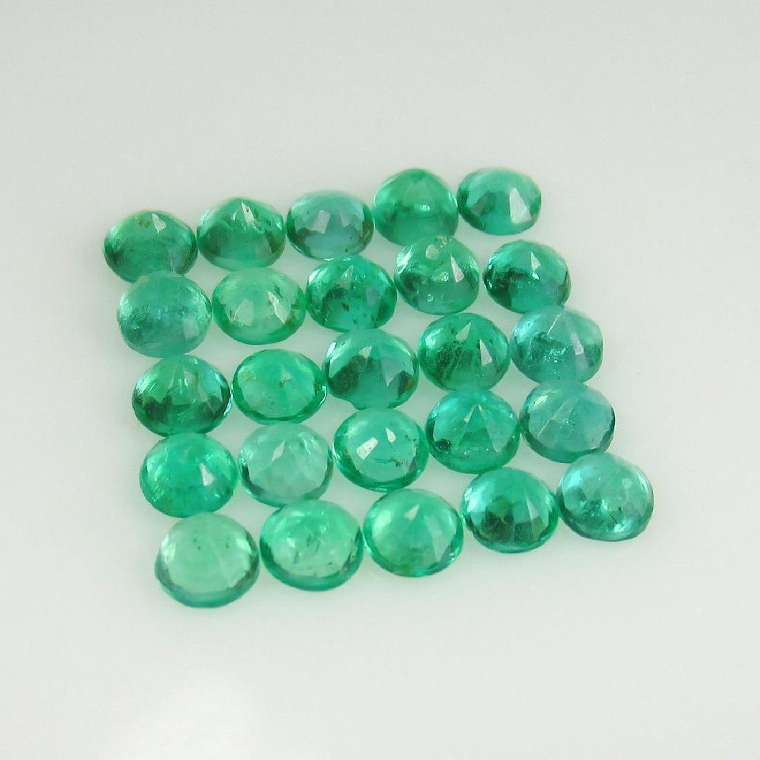 4.04 Ctw Natural 25 Loose Calibrate Emerald 3.5 mm - 3