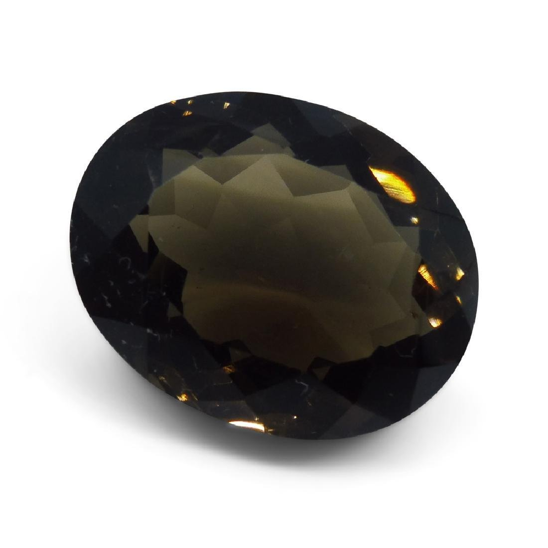 24.73 ct Oval Smokey Quartz