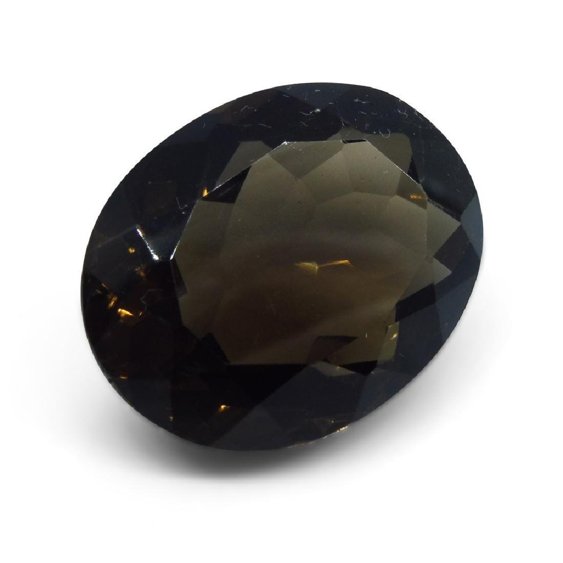24.73 ct Oval Smokey Quartz - 2