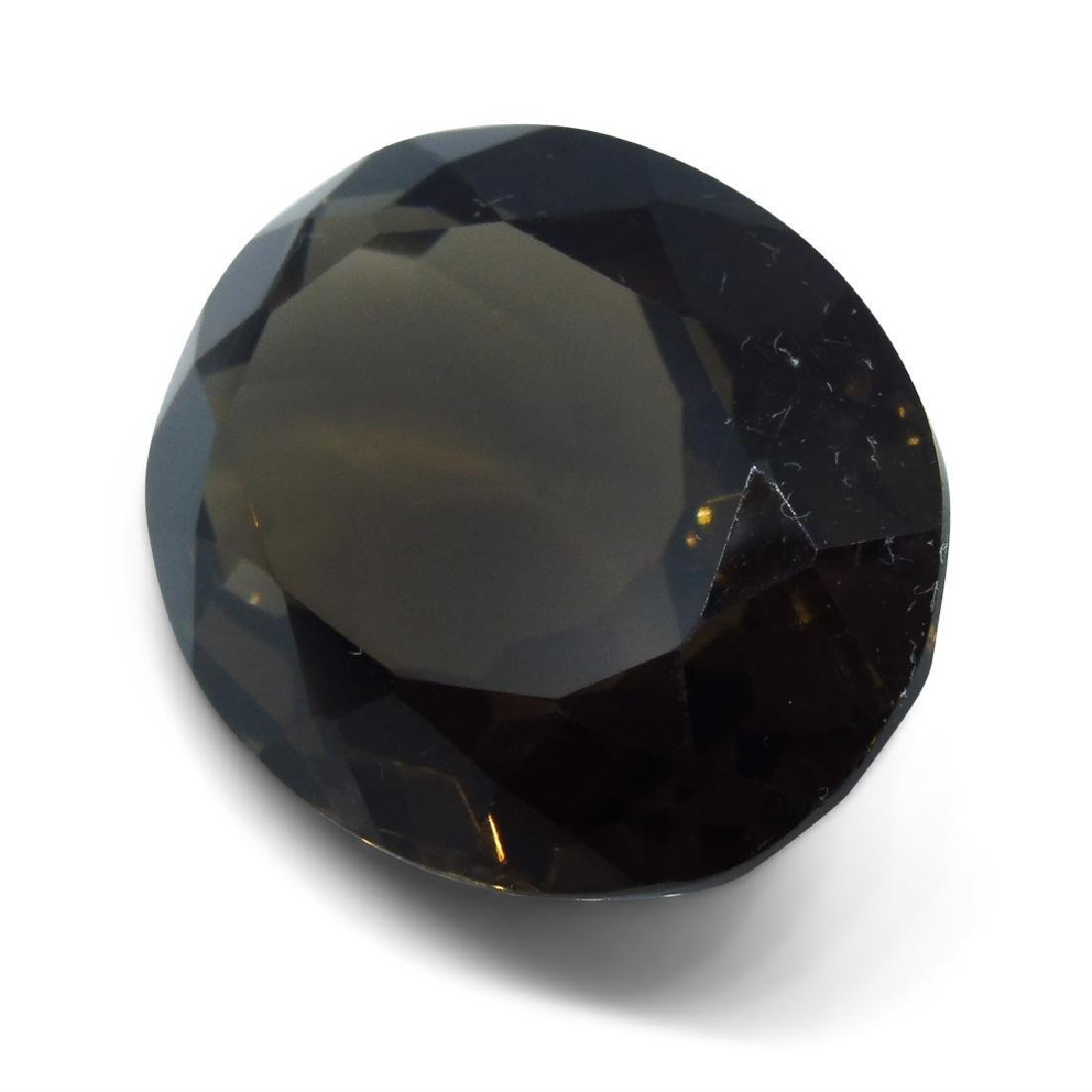24.73 ct Oval Smokey Quartz - 3