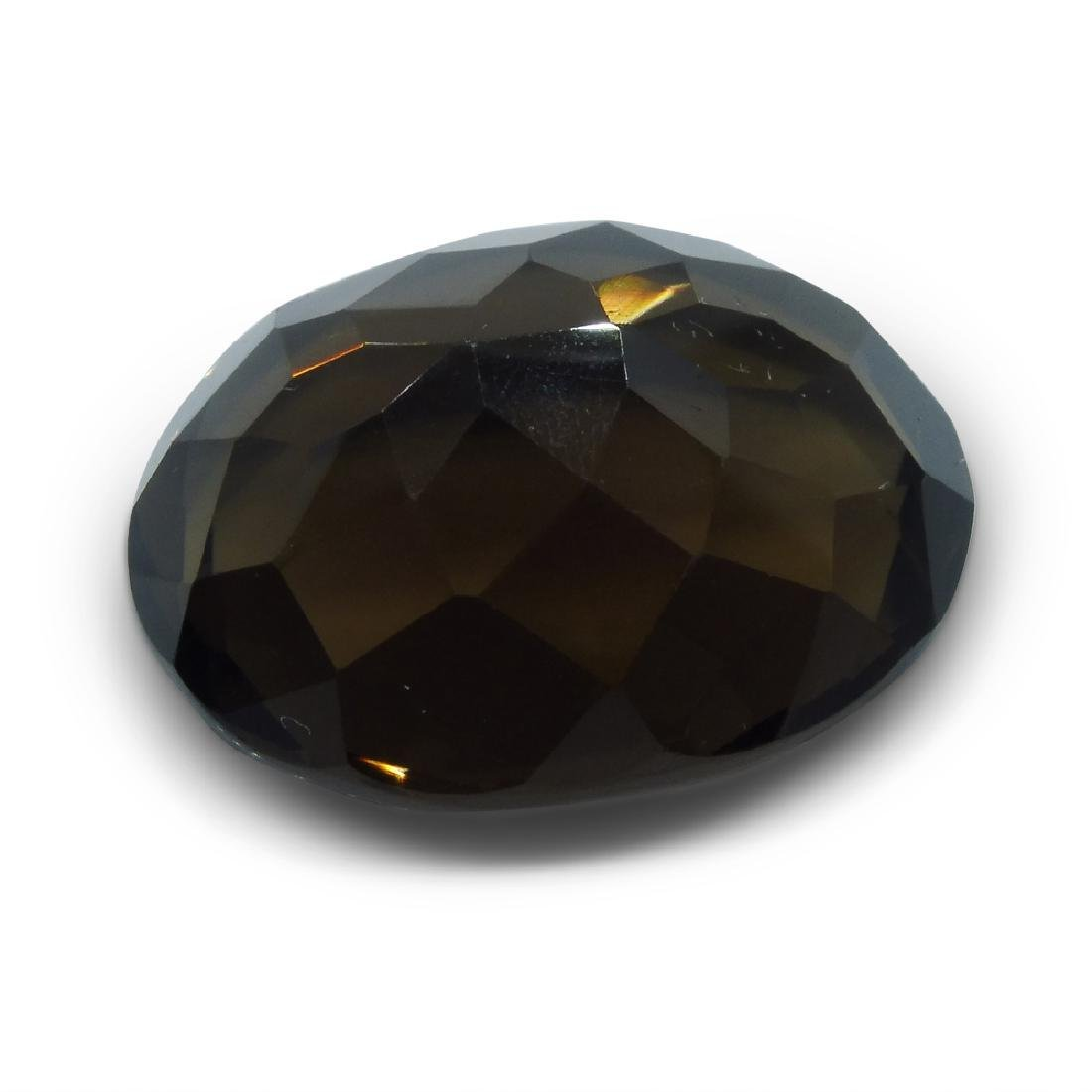 24.73 ct Oval Smokey Quartz - 6