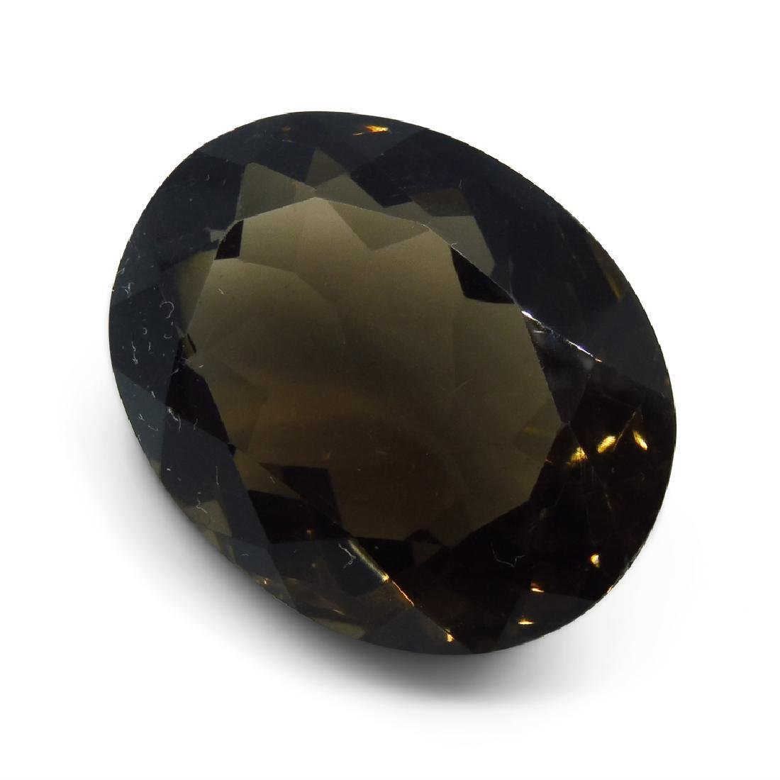 24.73 ct Oval Smokey Quartz - 7