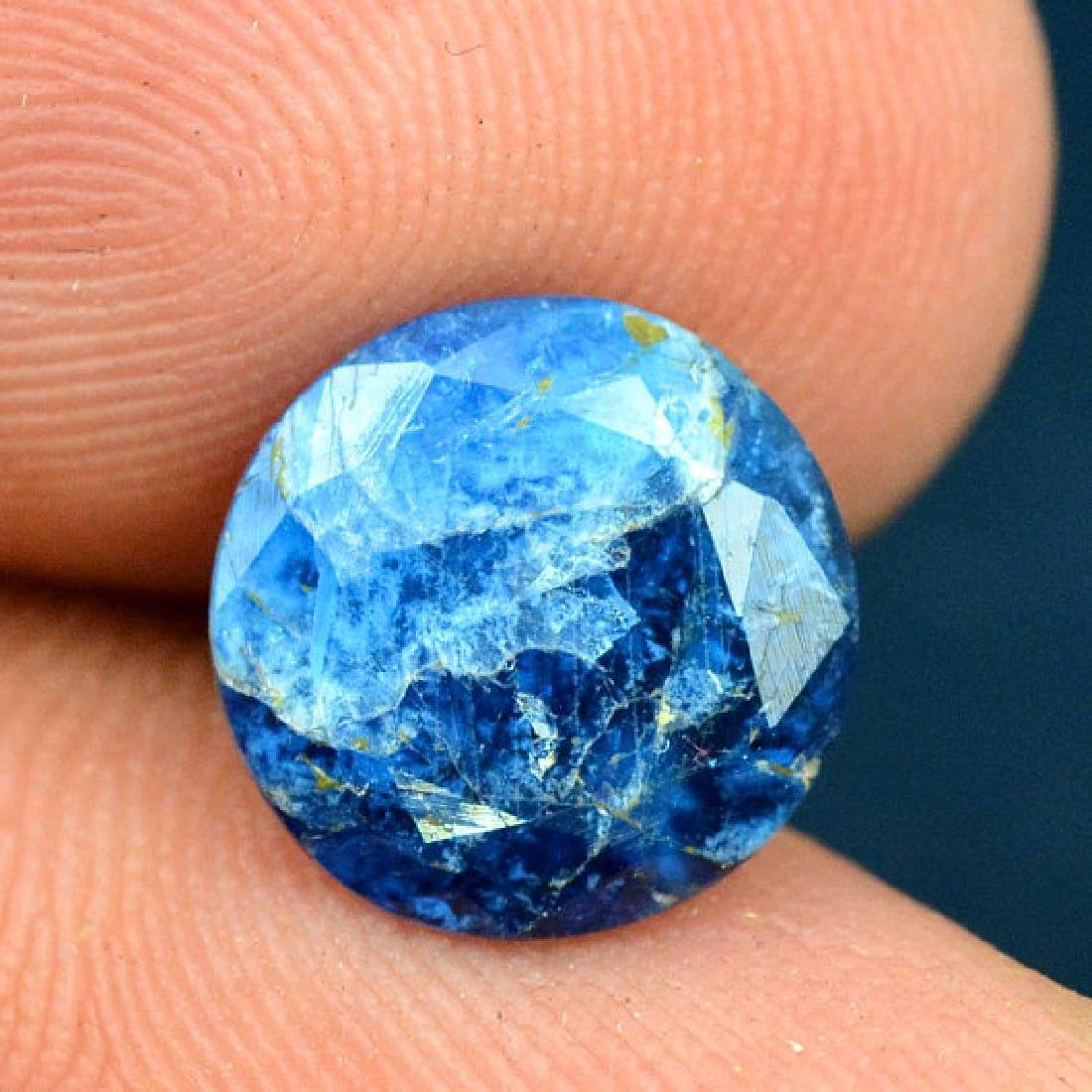 2.25 cts Extremely Rare Blue Color Natural Afghanite - 3