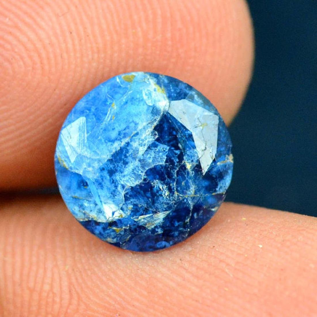 2.25 cts Extremely Rare Blue Color Natural Afghanite - 4