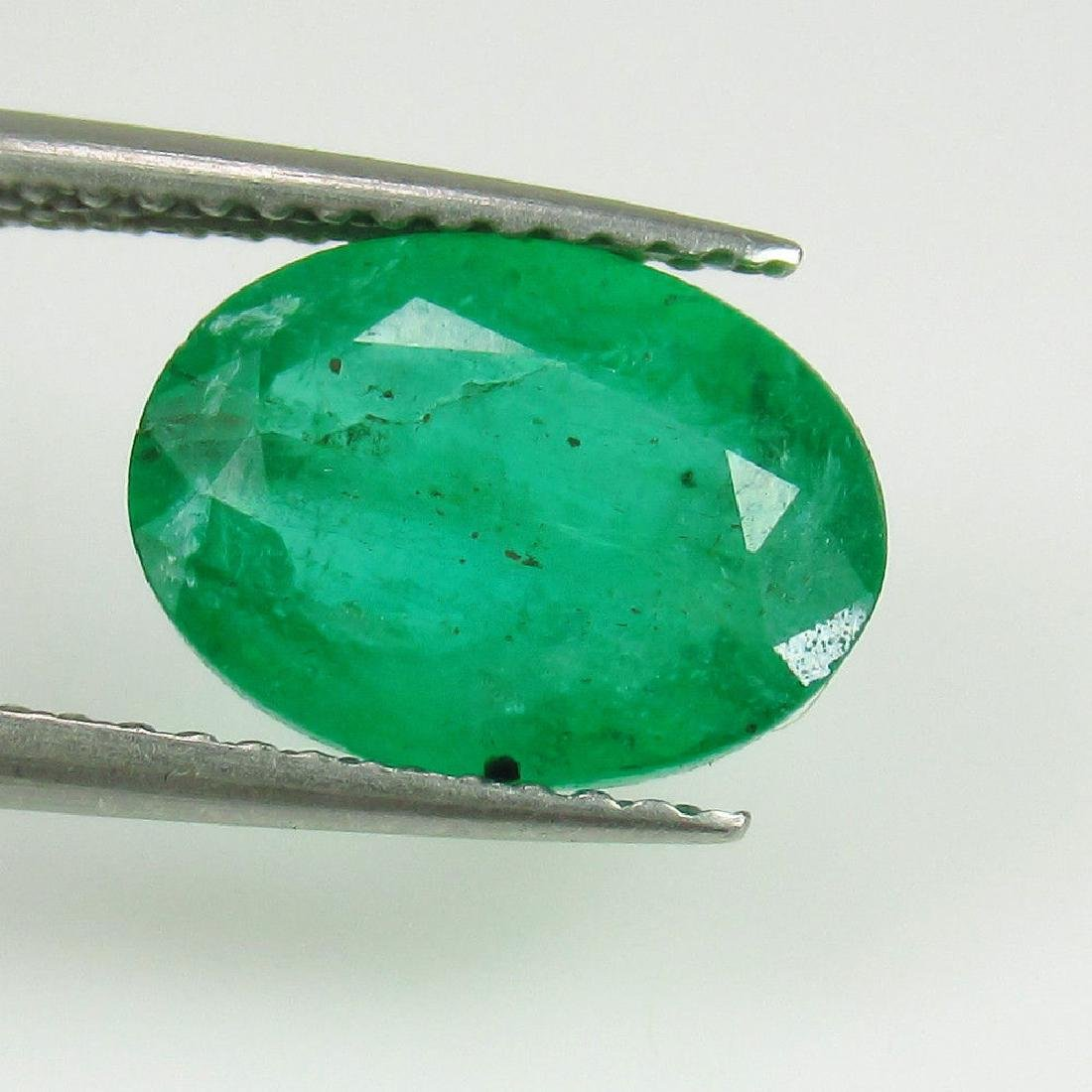 2.82 Ctw Natural Zambian Loose Oval cut Emerald