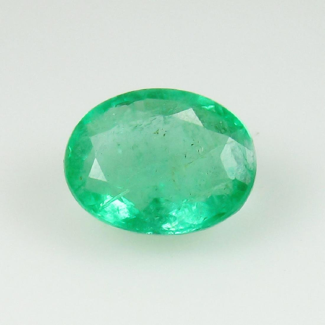 1.35 Ctw Natural Zambian Loose Oval cut Emerald