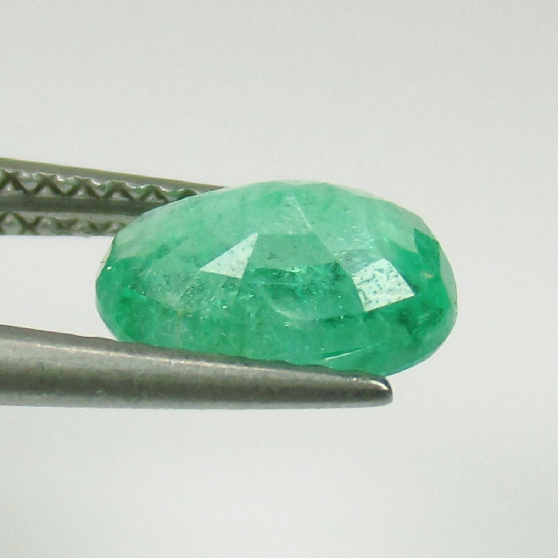 1.35 Ctw Natural Zambian Loose Oval cut Emerald - 3