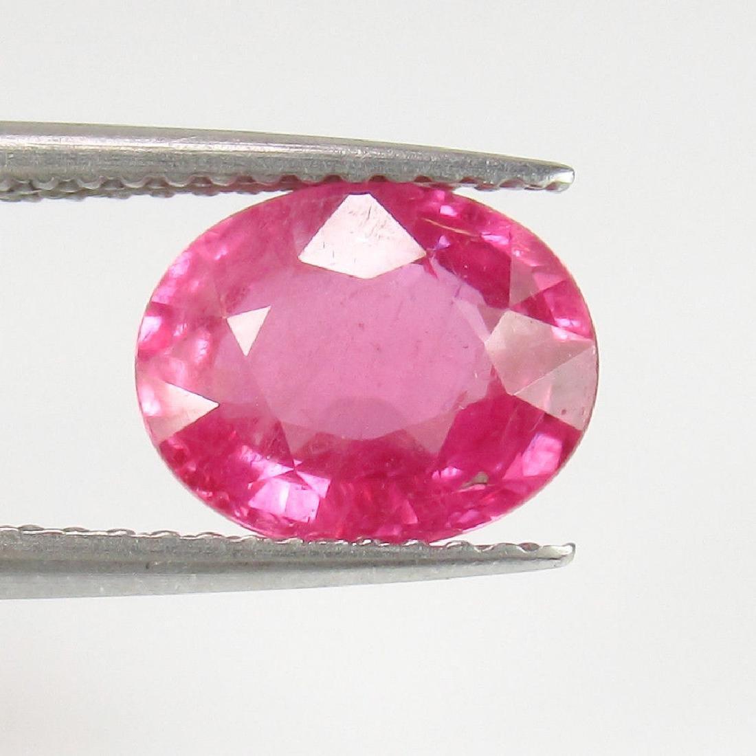 2.36 Ctw Natural Loose Deep Reddish Pink Rubellite