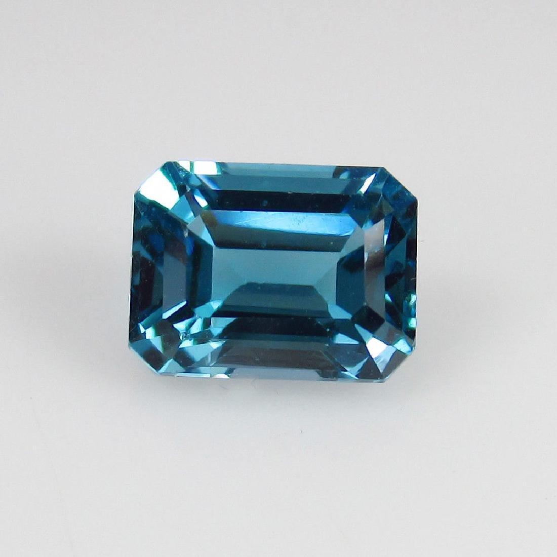 2.47 Ctw Natural Loose London Blue Topaz Emerald Cut