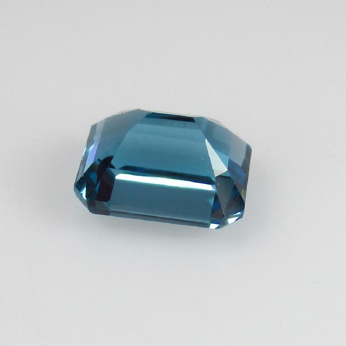 2.47 Ctw Natural Loose London Blue Topaz Emerald Cut - 2