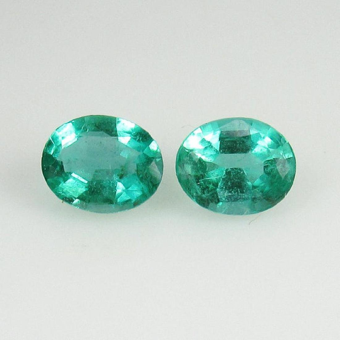 0.75 Ct IGI Certified Genuine Zambian Emerald Matching