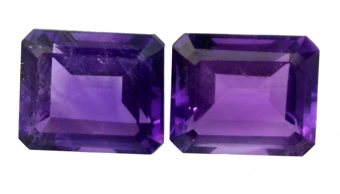 12.10Ct NATURAL STUNNING AMETHYST PAIR VVS QUALITY
