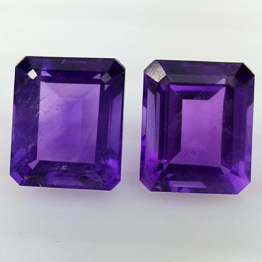 12.10Ct NATURAL STUNNING AMETHYST PAIR VVS QUALITY - 2