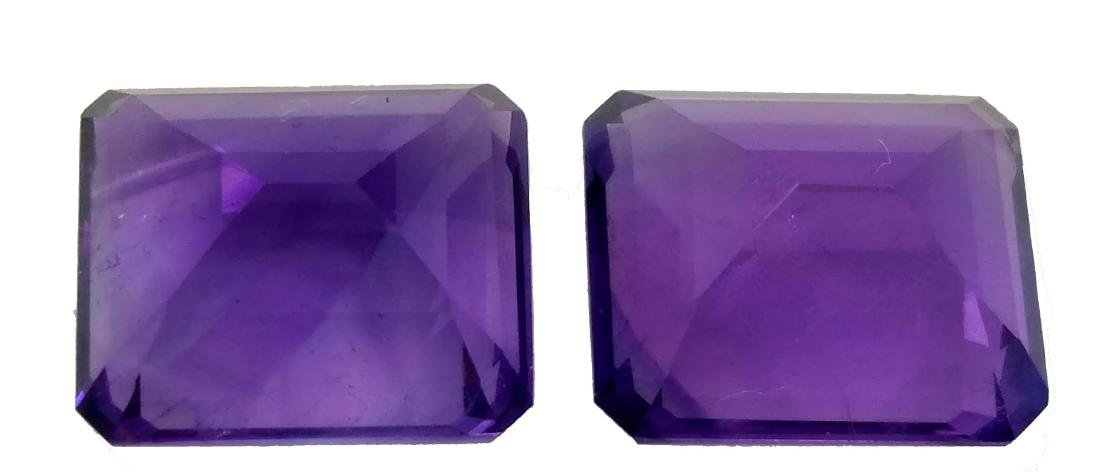 12.10Ct NATURAL STUNNING AMETHYST PAIR VVS QUALITY - 4