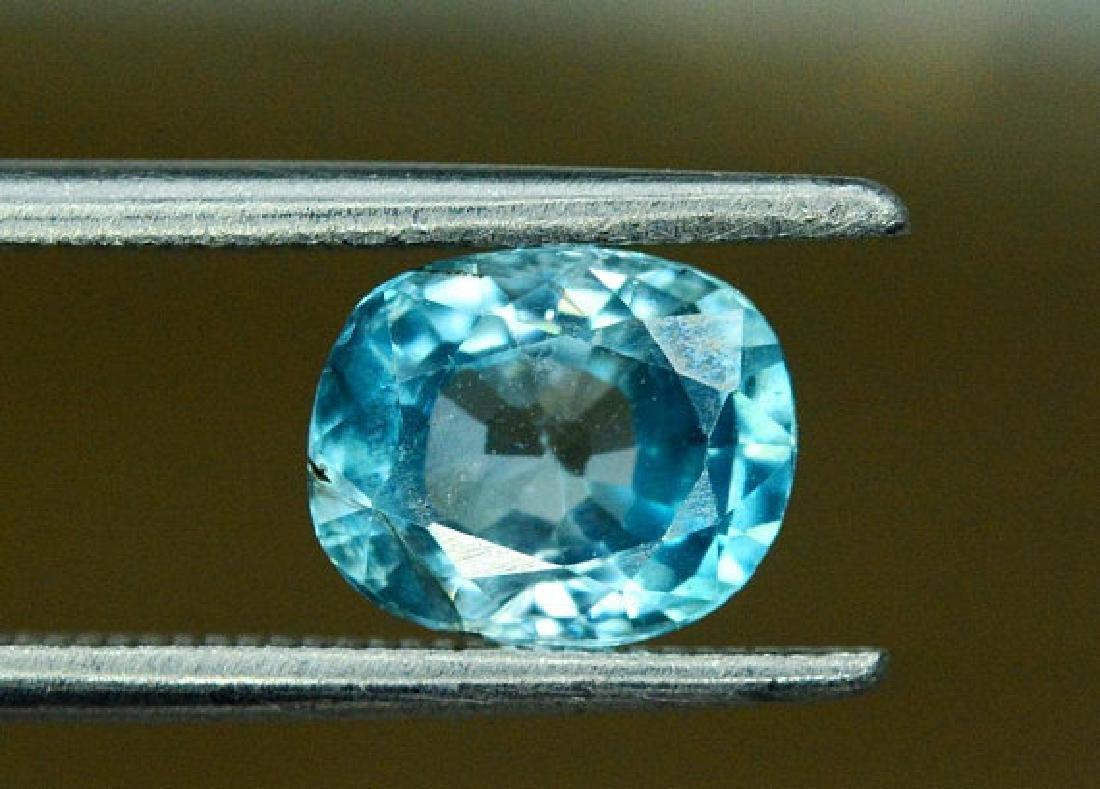 1.75 carats Blue Zircon Loose Gemstone from Cambodia -