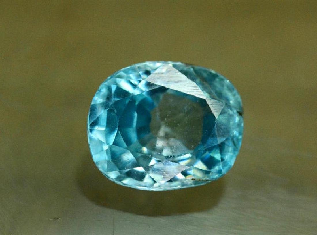 1.75 carats Blue Zircon Loose Gemstone from Cambodia - - 2