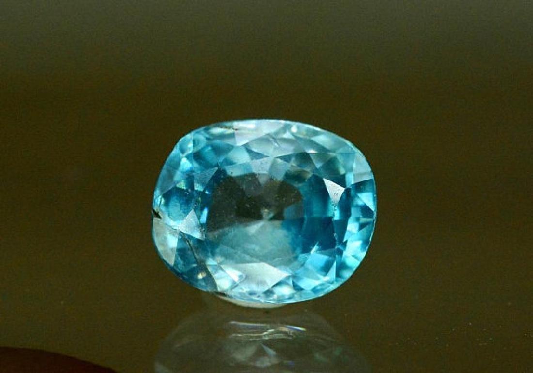 1.75 carats Blue Zircon Loose Gemstone from Cambodia - - 3