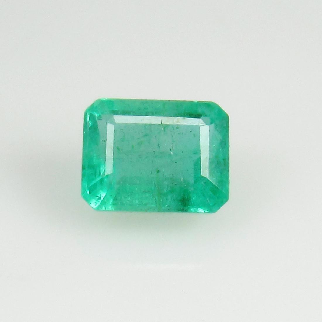IGI Certified 0.74 Ct Genuine Zambian Emerald Very Good