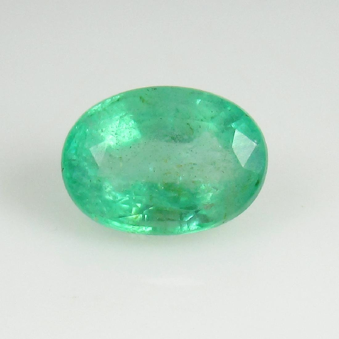 IGI Certified 2.01 Ct Genuine Colombian Emerald Good