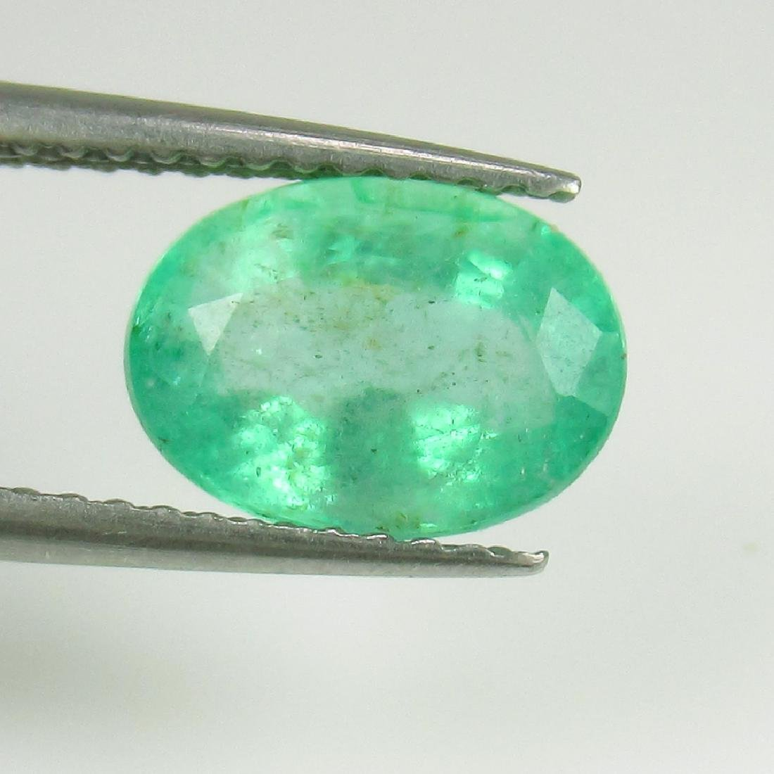 IGI Certified 2.01 Ct Genuine Colombian Emerald Good - 4