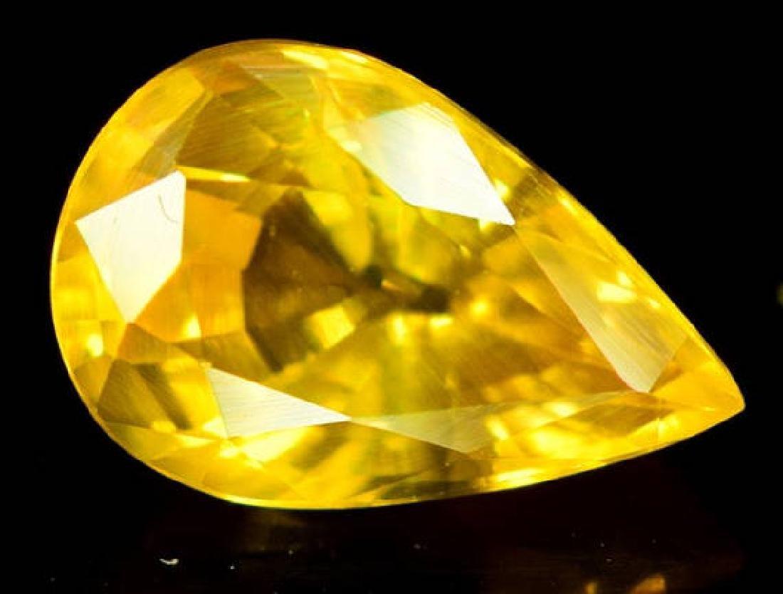 0.90 carats Very Beautiful Yellow Sapphire Loose - 4