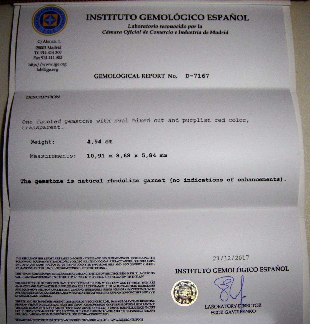 Rhodolite Garnet - 4.94 ct - 5