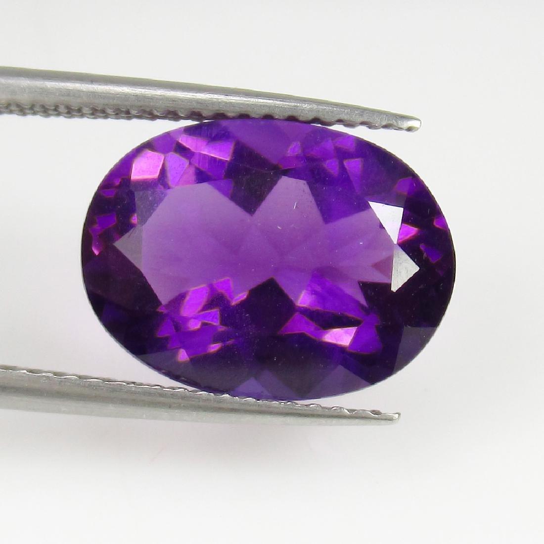 4.79 Ct IGI Certified Genuine Brazil Purple Amethyst - 3