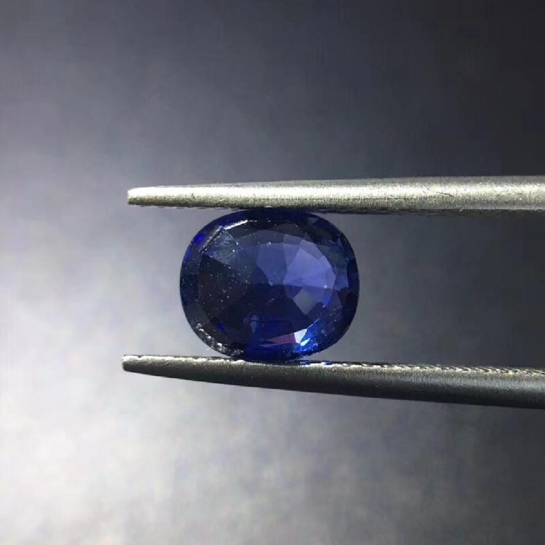 1.68 ct Sapphire 7.5*6.4*3.6 mm Oval Cut - 4