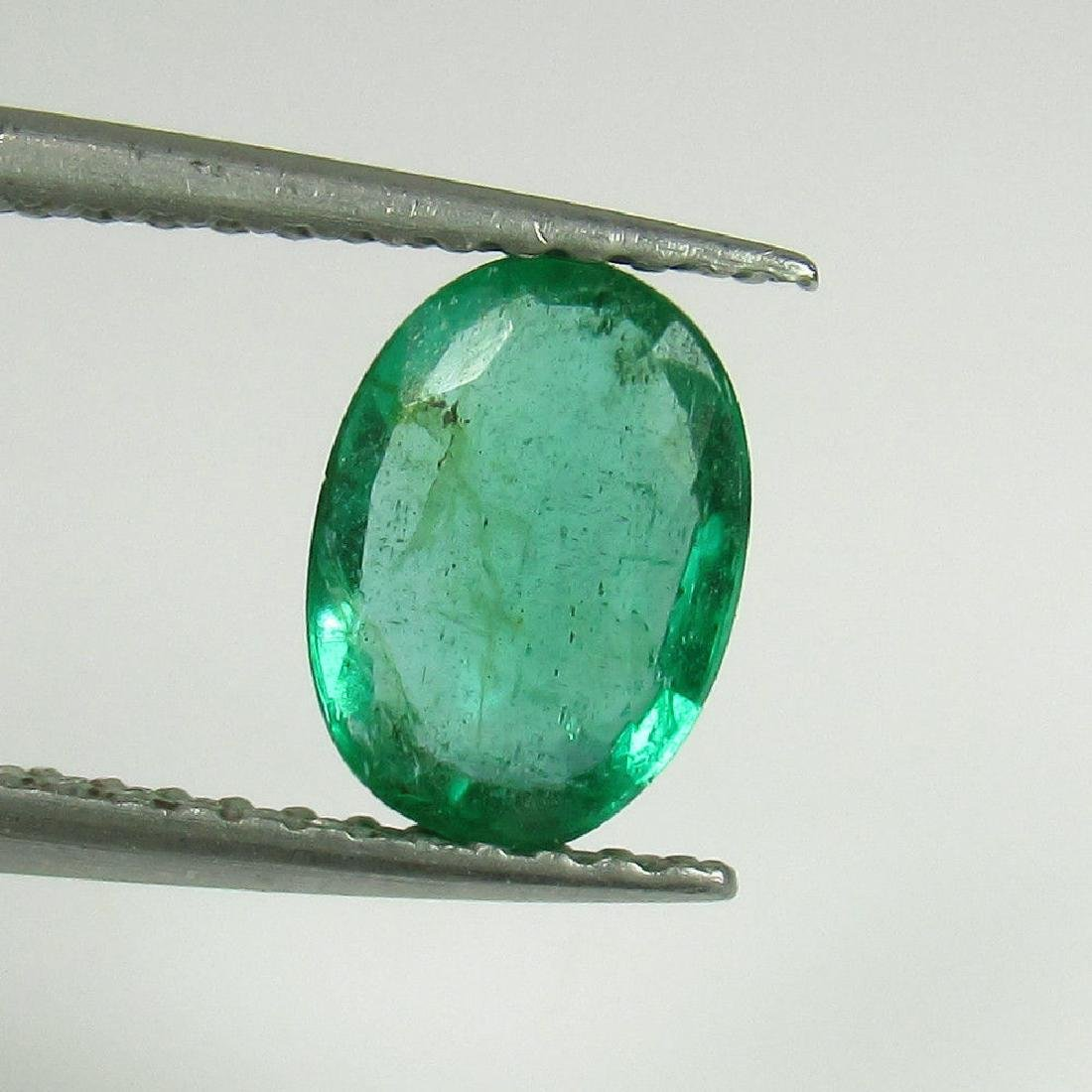 1.00 Ctw Natural Zambian Loose Oval cut Emerald
