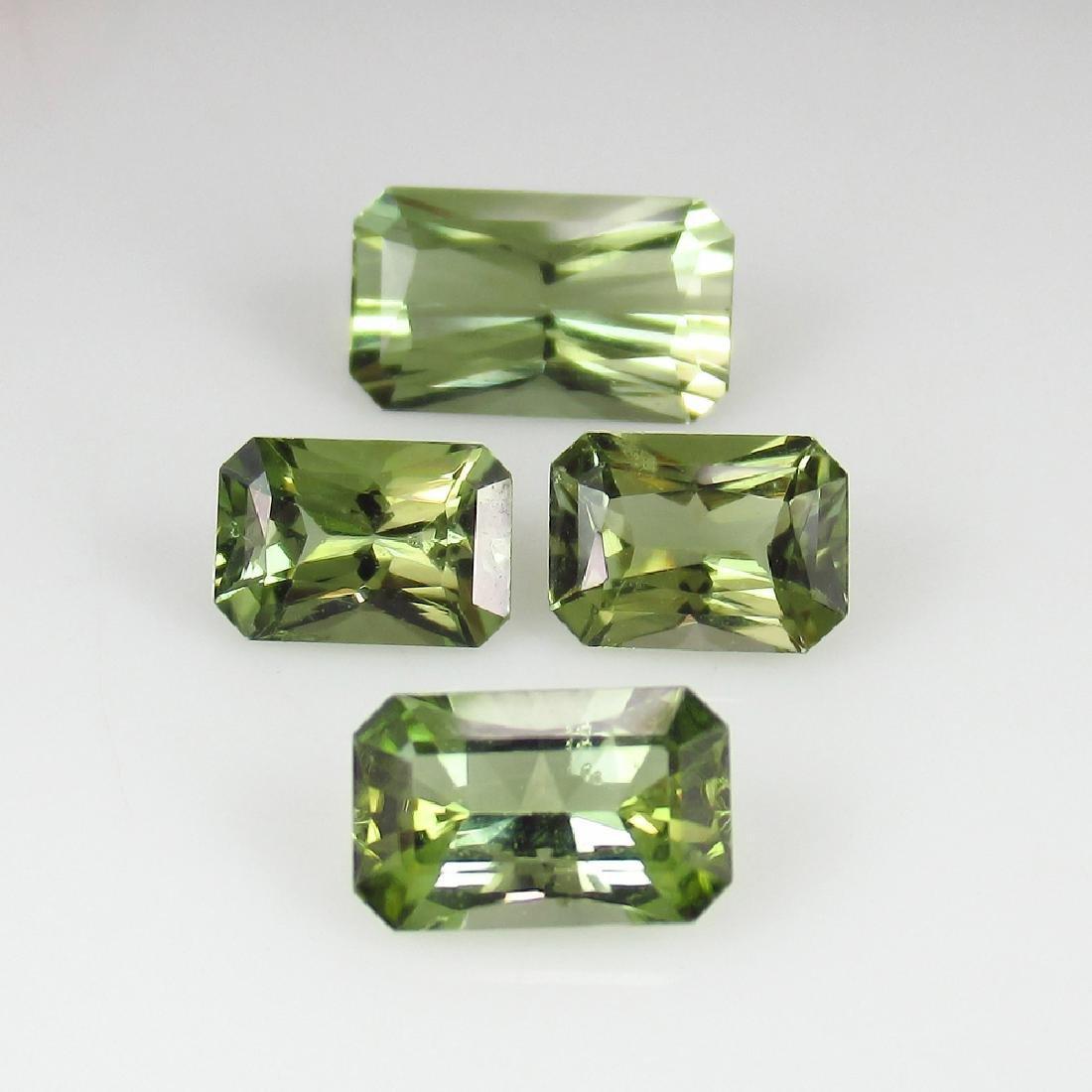 4.60 Ct Genuine 4 Loose Top Radiant cut Green