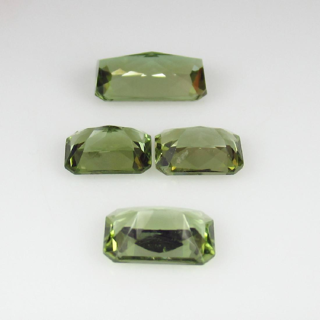 4.60 Ct Genuine 4 Loose Top Radiant cut Green - 2