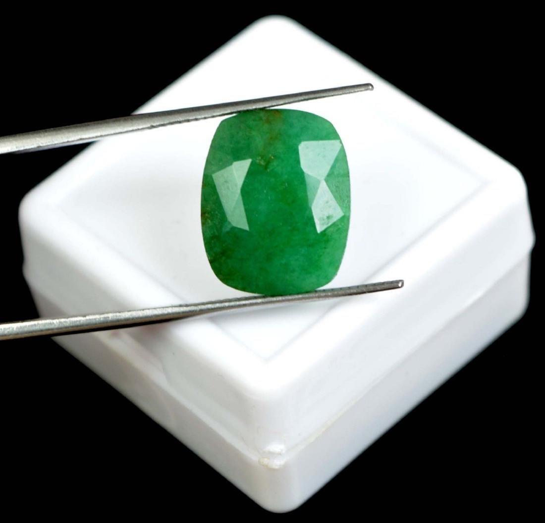 7.35 Ct Natural Green Emerald Cushion Cut IGL Certified